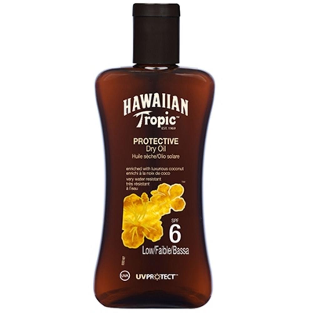 Huile sèche solaire spf6 - hawaiian tropic -195093