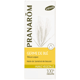 Huile végétale germe de blé bio - 50.0 ml - huiles végétales - pranarom peaux sèches, rugueuses ou atones-12395