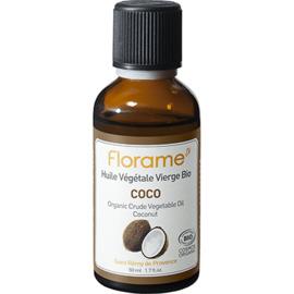Huile végétale vierge bio coco 50ml - florame -225669