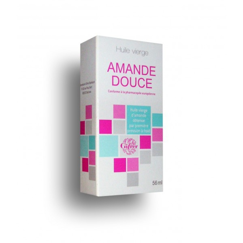 Huile vierge d'amande douce - 56ml - 60.0 ml - gifrer -146132