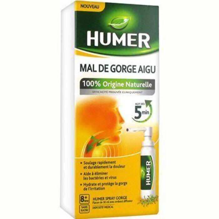 Humer mal de gorge aigu spray gorge 30ml Humer-216081