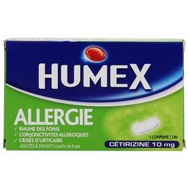 Humex allergie cetirizine 10 mg - 7 comprimés - urgo -192586