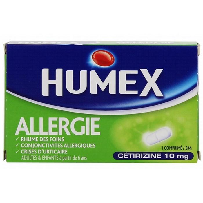 Humex allergie cetirizine 10 mg - 7 comprimés Urgo-192586