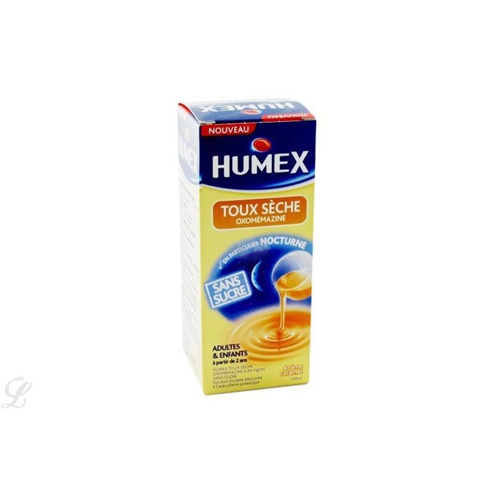 humex toux seche oxomemazine sans sucre 150 0 ml urgo la pharmacie principale. Black Bedroom Furniture Sets. Home Design Ideas