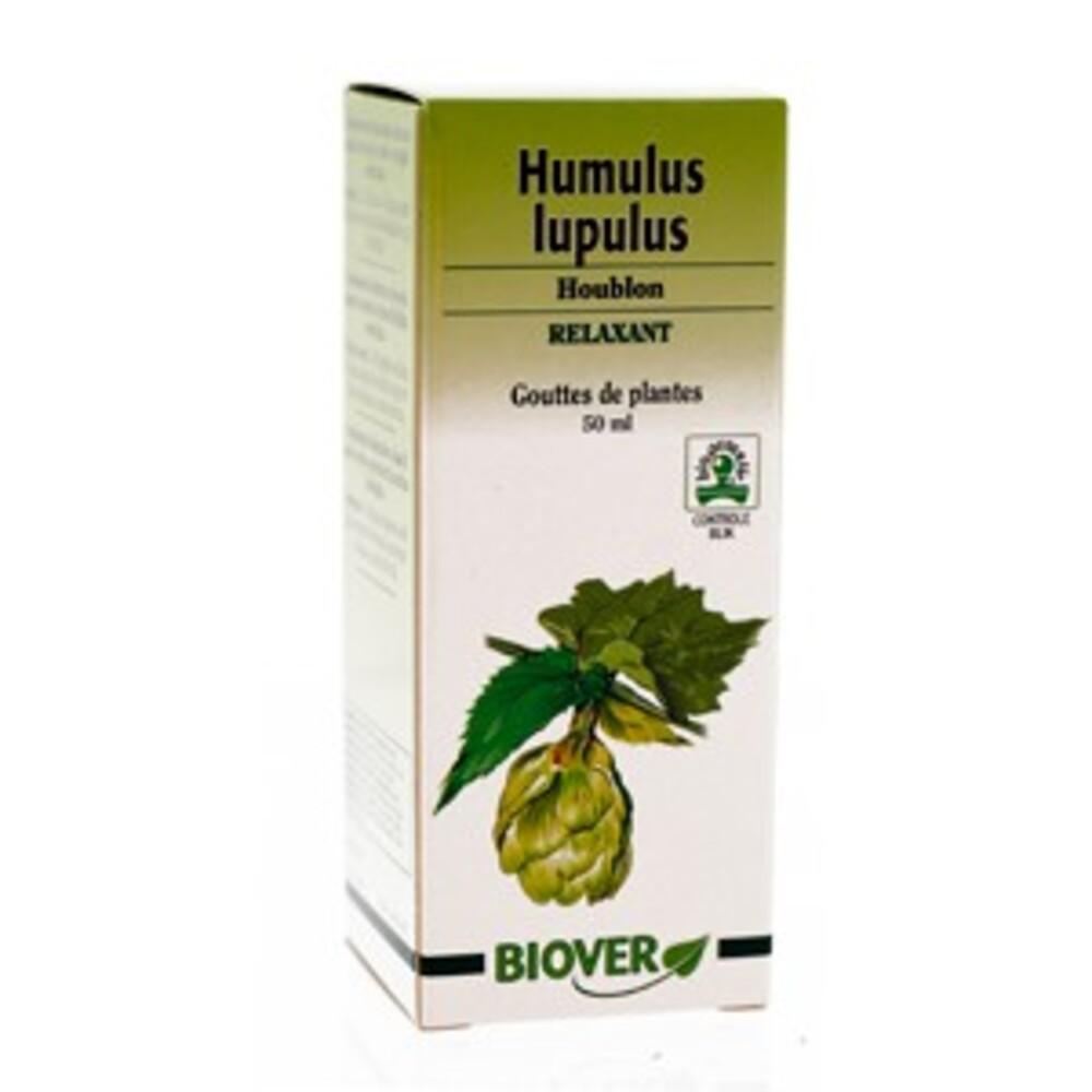 Humulus lupulus (houblon) bio - 50.0 ml - gouttes de plantes - teintures mères - biover Action bénéfique sur le sommeil-8980