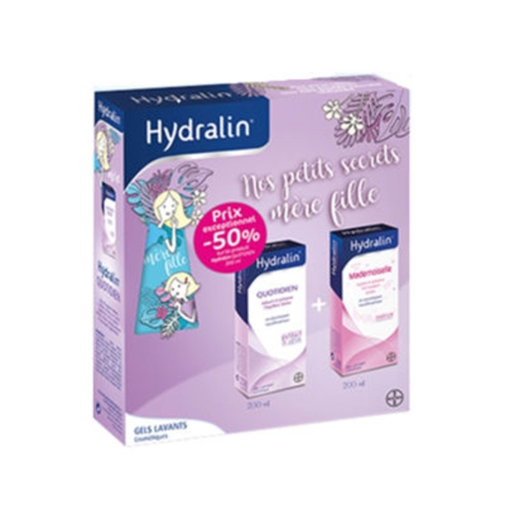 Hydralin coffret quotiden gel lavant 200ml + mademoiselle 200ml - hydralin -221195
