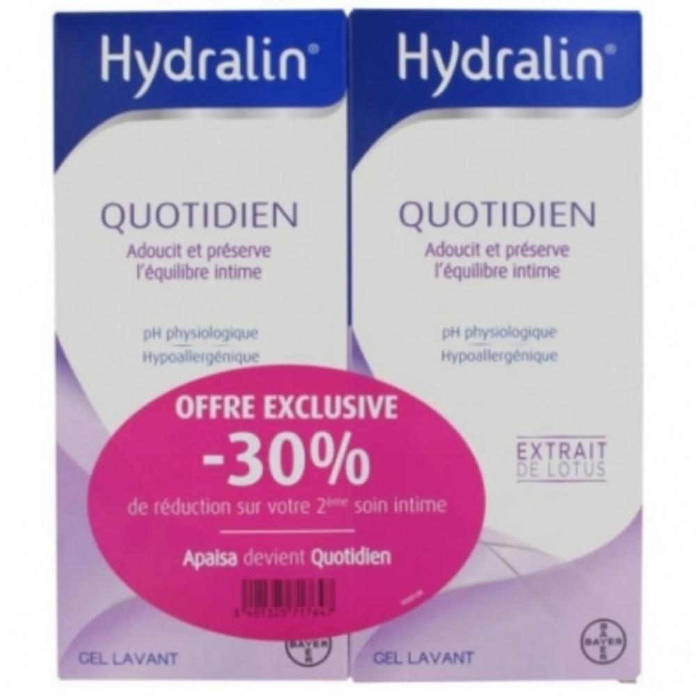 Hydralin quotidien gel lavant - 2x400ml - 400.0 ml - gamme hydralin - hydralin -83878
