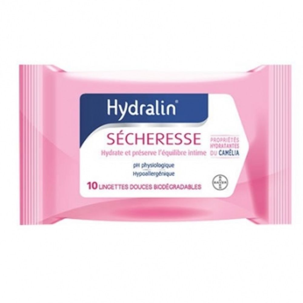 HYDRALIN Sécheresse - 10 Lingettes - 10.0 unites - Gamme Hydralin - Hydralin -88587