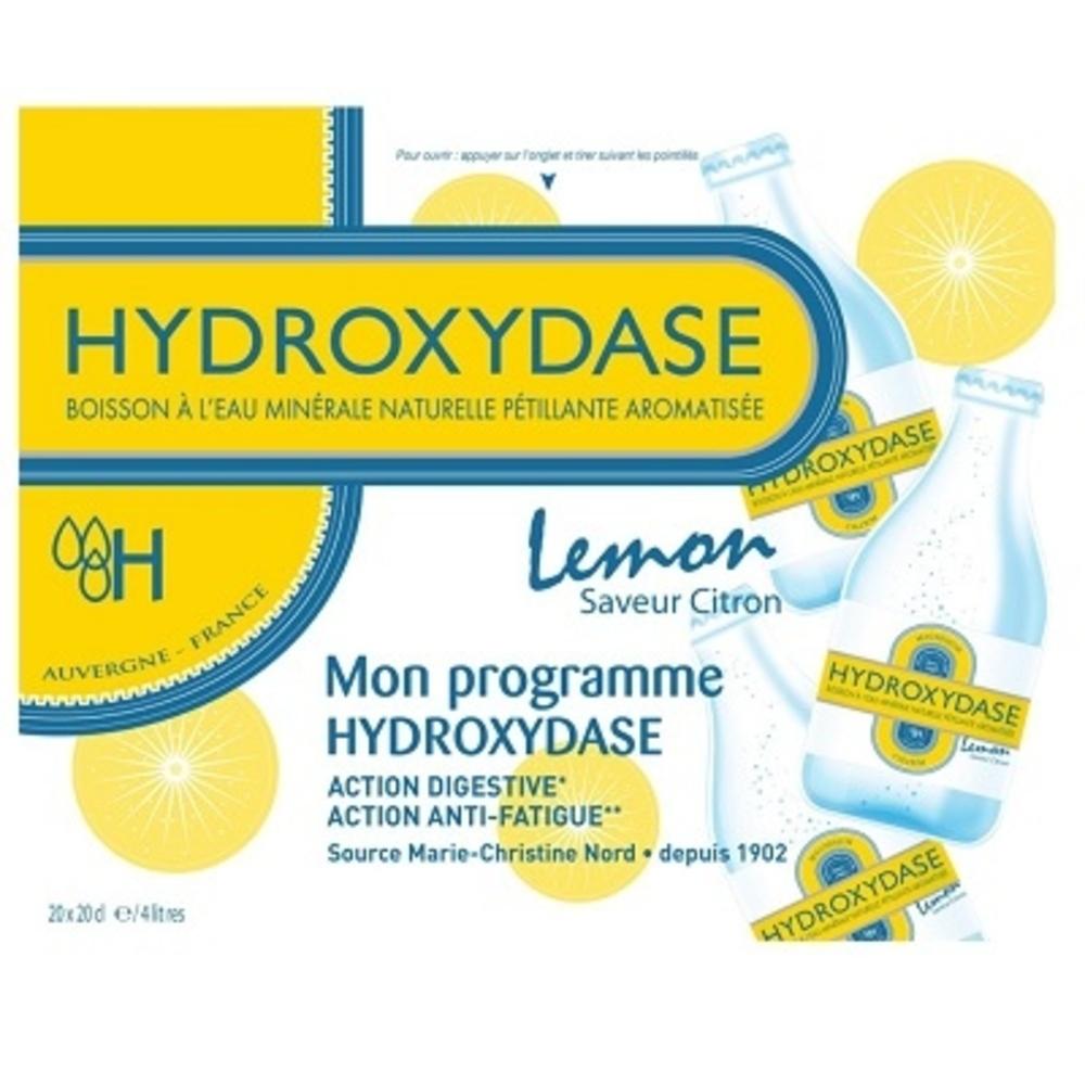 Hydroxydase eau minérale naturelle gazeuse citron x20 - hydroxydase -202541