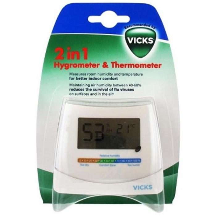 Hygromètre thermomètre 2 en 1 Vicks-199236
