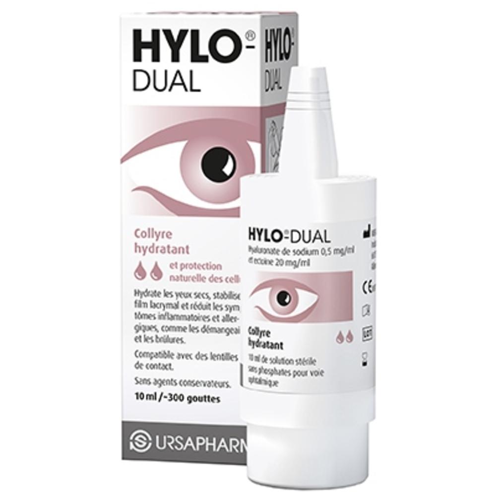 Hylo dual collyre hydratant avec ectoïne 10ml - ursapharm -202900