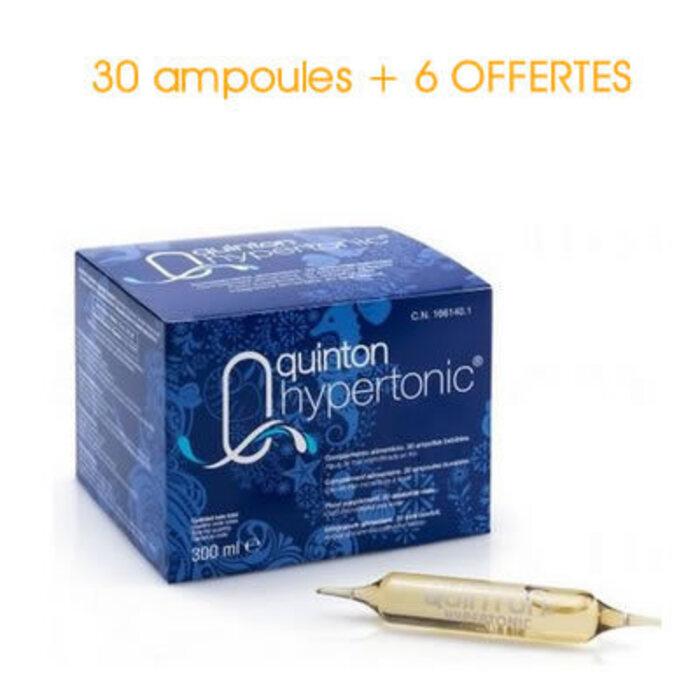 Hypertonic 30 ampoules x 10ml + 6 ampoules offertes Quinton -215316