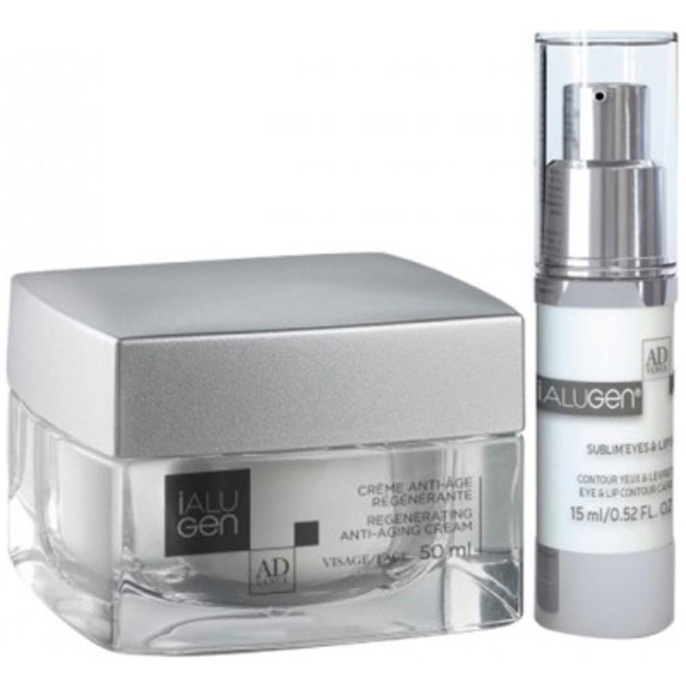 IALUGEN Coffret Crème Anti-âge Régénérante 50ml + Sublim'Eyes & Lips 15 ml - Ialugen -211105