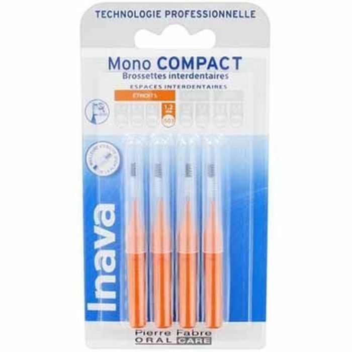 Inava mono compact etroit 1,2mm - 4 brossettes interdentaires Inava-224865