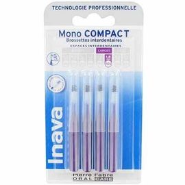 Inava mono compact large 1,8mm - 4 brossettes interdentaires - 4.0 u - inava -224867