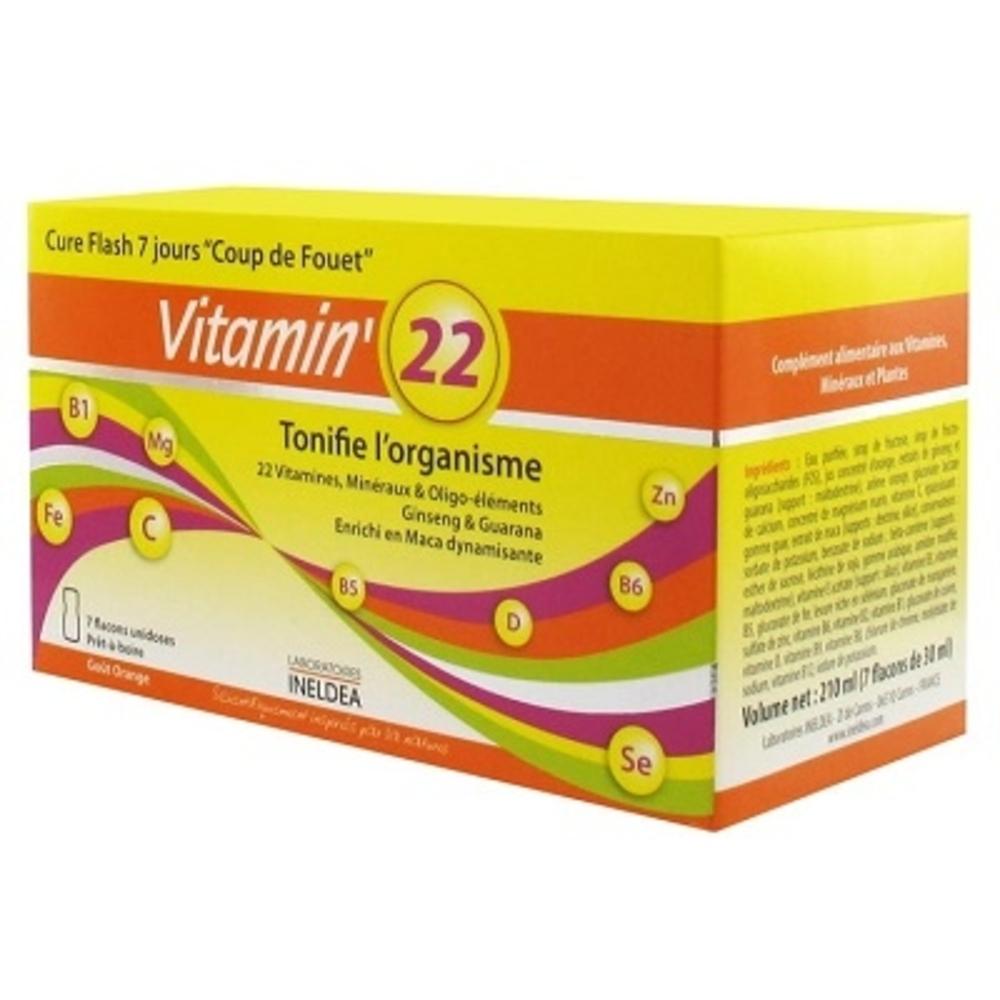 Ineldea vitamin 22 - ineldea - ineldea Coup de fouet + défenses naturelles + performance-11004