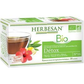 Infusion bio détox 20 sachets - herbesan -225294