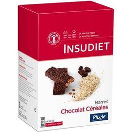 Insudiet barres chocolat céréales 12 barres - pileje -221446