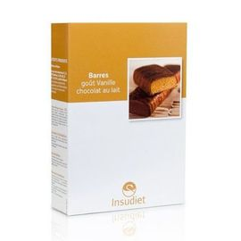 Insudiet barres vanille chocolat lait 6 portions - pileje -221760