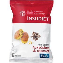 Insudiet mini-cake aux pépites de chocolat céréales 6 portions - pileje -221447