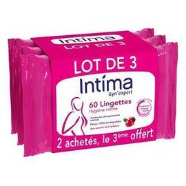 Intima gyn'expert lingettes hygiène intime 3x20 - 60.0 u - reckitt benckiser -224534