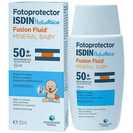 Isdin fotoprotector pediatrics fusion fluid mineral baby spf50+ 50ml - isdin -225887