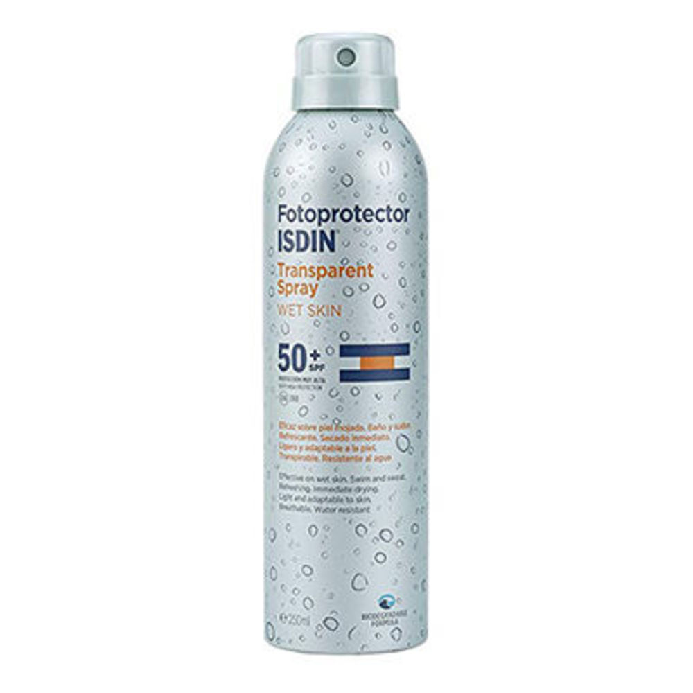 Isdin fotoprotector transparent spray wet skin spf50+ 250ml - isdin -225879