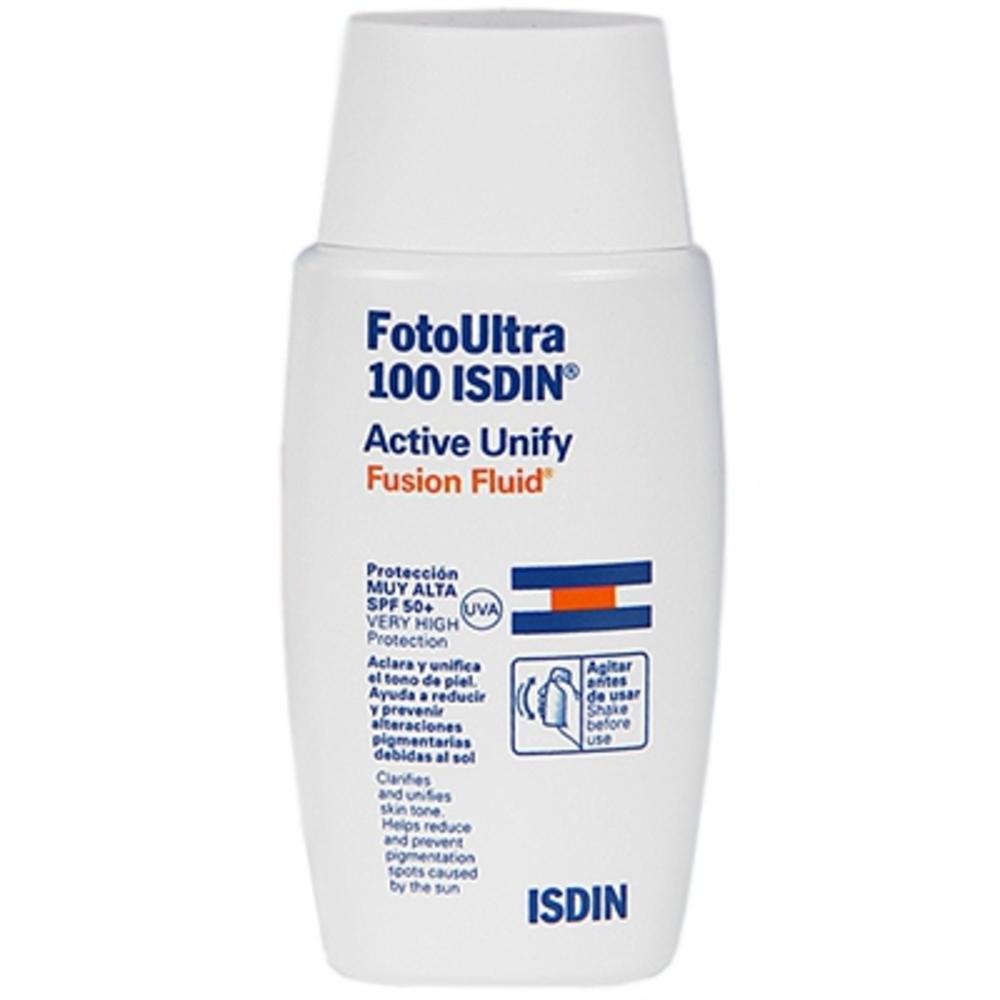 Isdin uv care fotoultra active unify fusion fluid spf50+ 50ml - isdin -202952
