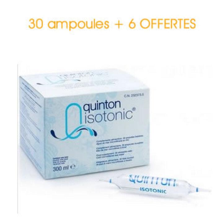 Isotonic 30 ampoules x 10ml + 6 ampoules offertes Quinton -215130
