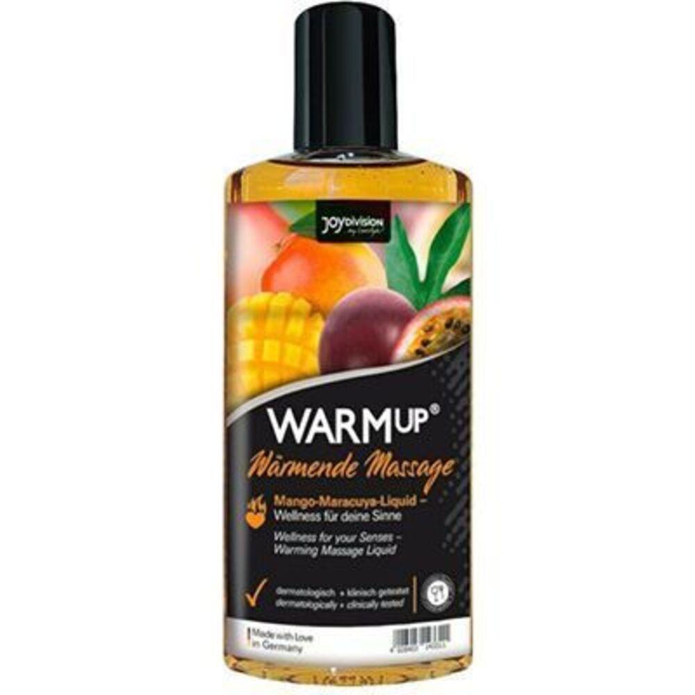 Joydivision warmup huile massage chauffante comestible mangue passion 150ml - joydivision -226487