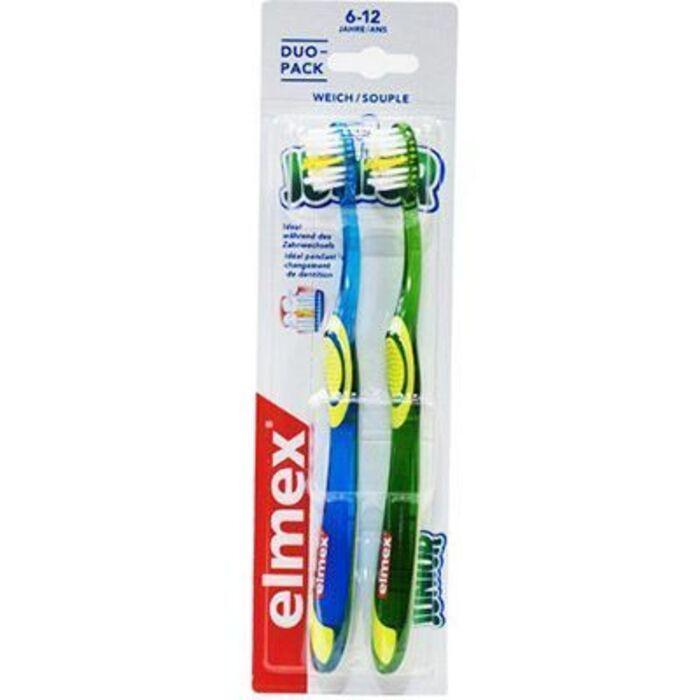 Junior brosse à dents souple 6-12 ans lot de 2 Elmex-226473