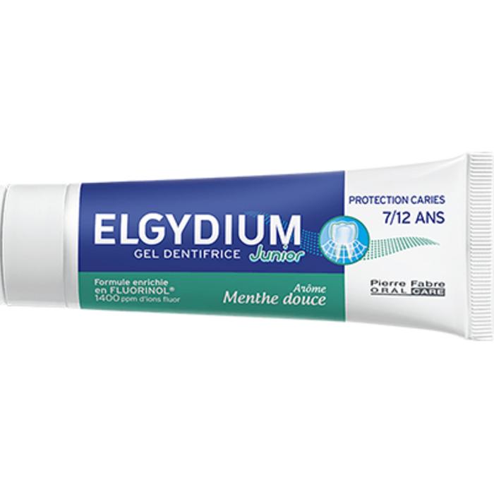 Junior gel dentifrice 7/12 ans menthe douce 50ml Elgydium-223487