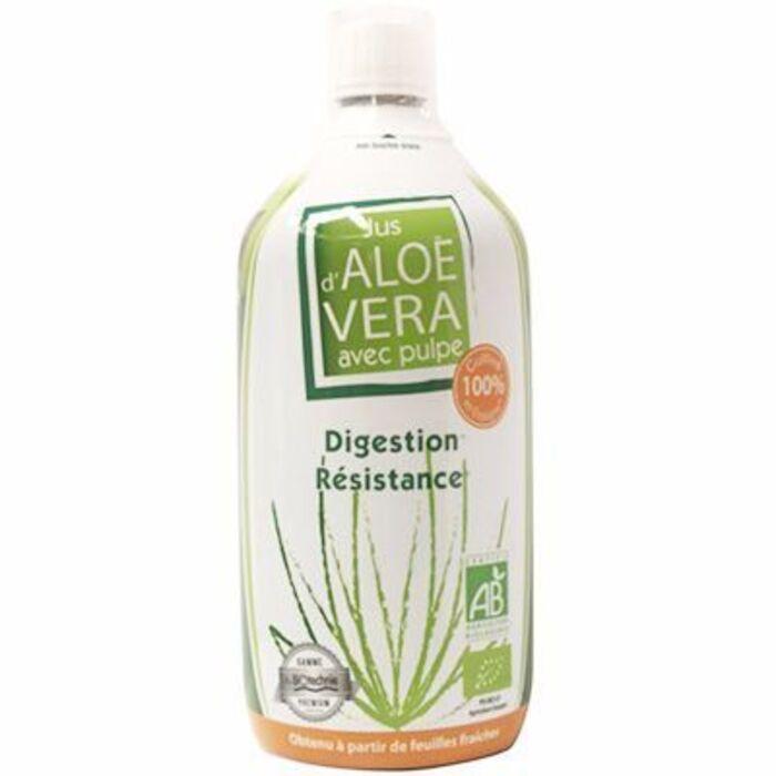 Jus d'aloe vera avec pulpe bio 1l Biotechnie-215134