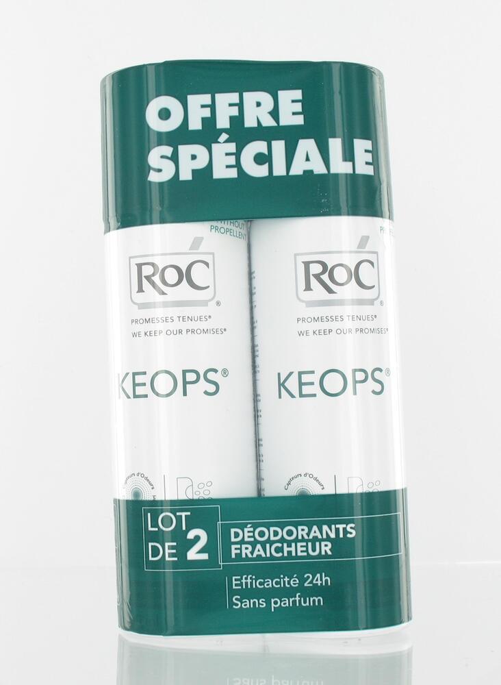 Keops déodorant fraîcheur spray - lot de 2 - déodorants keops - roc Transpiration modérée-109336