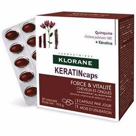 Keratincaps cheveux et ongles 3 x 30 capsules - klorane -215263