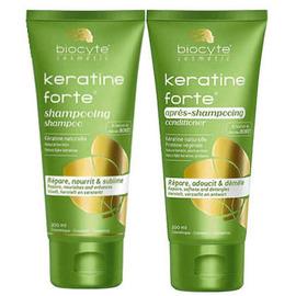 Keratine forte shampooing 200ml + après-shampooing 200ml - biocyte -222488