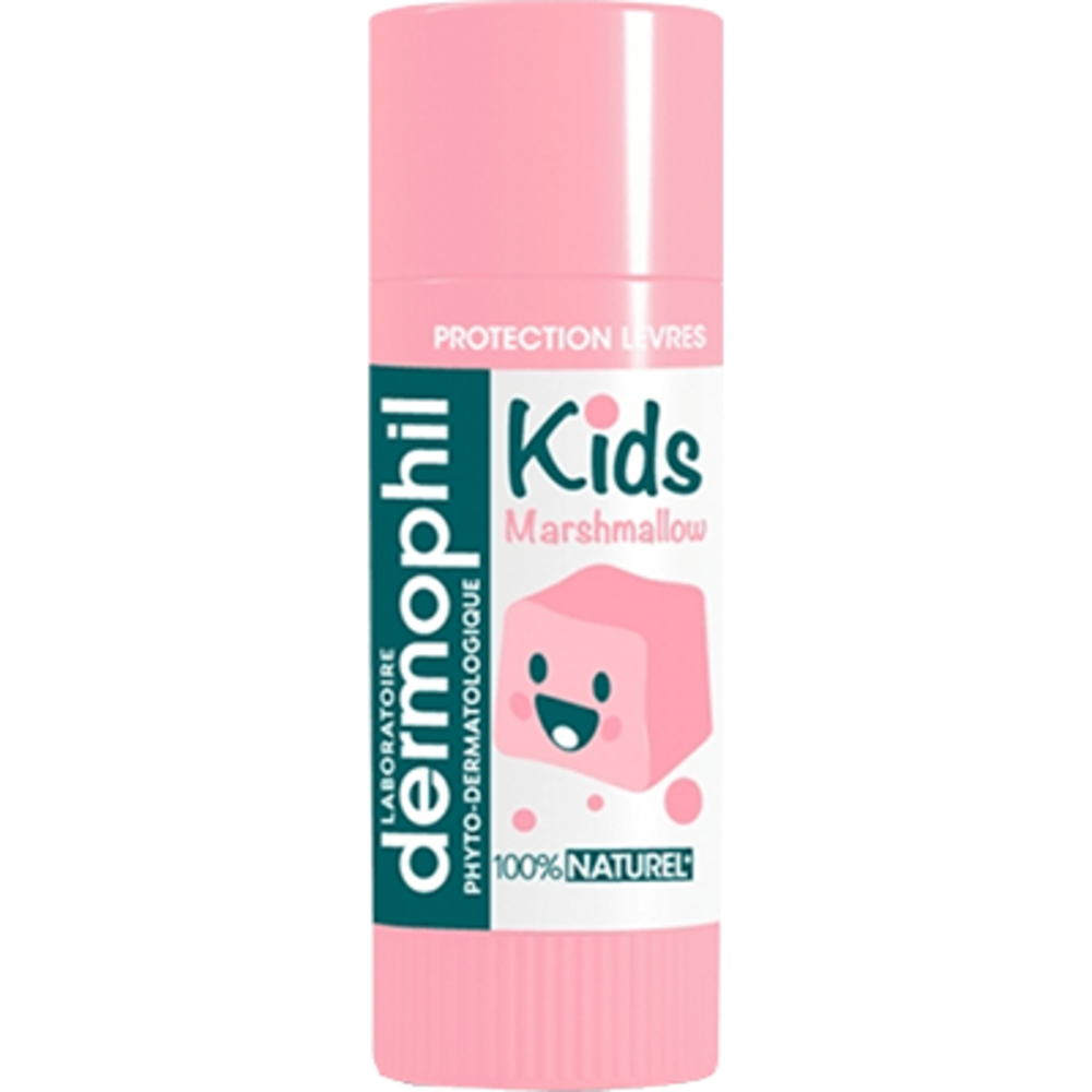 Kids stick lèvres 100% naturel chamallow 4g - dermophil indien -219304