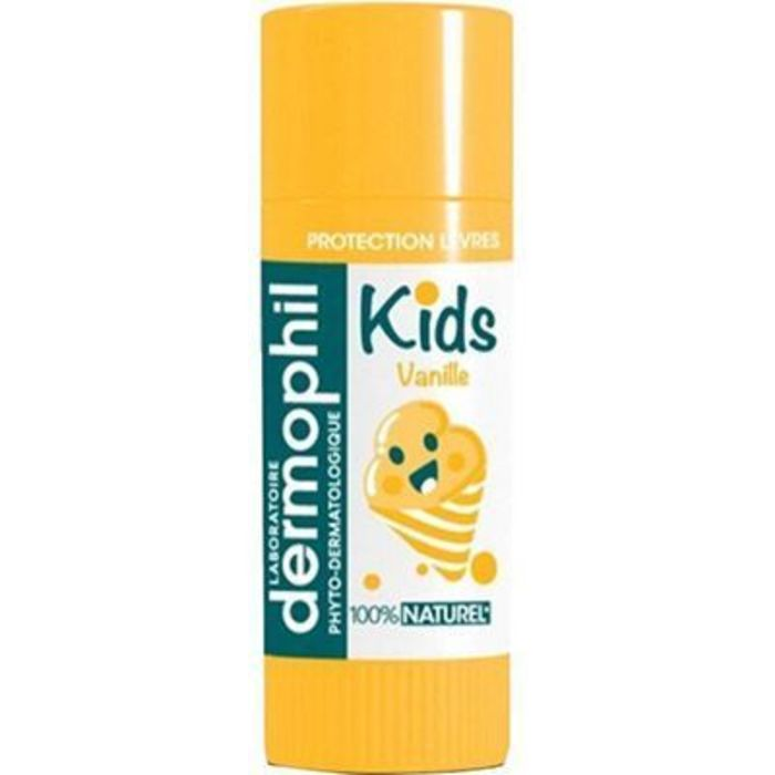 Kids stick lèvres 100% naturel vanille 4g Dermophil indien-219305