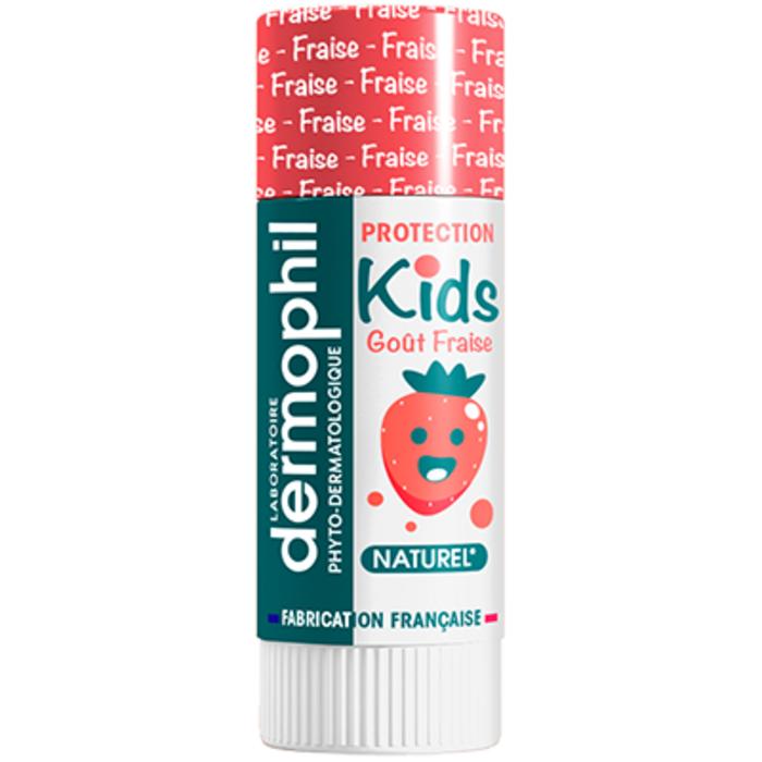 Kids stick protection lèvres fraise 4g Dermophil indien-228468