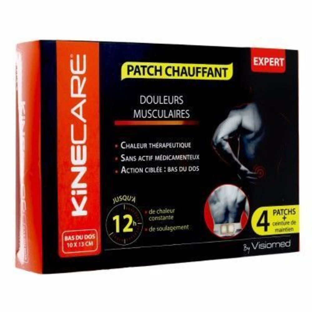 KINECARE Patch Chauffant Bas du Dos 10x13cm x4 - Kinecare -216469