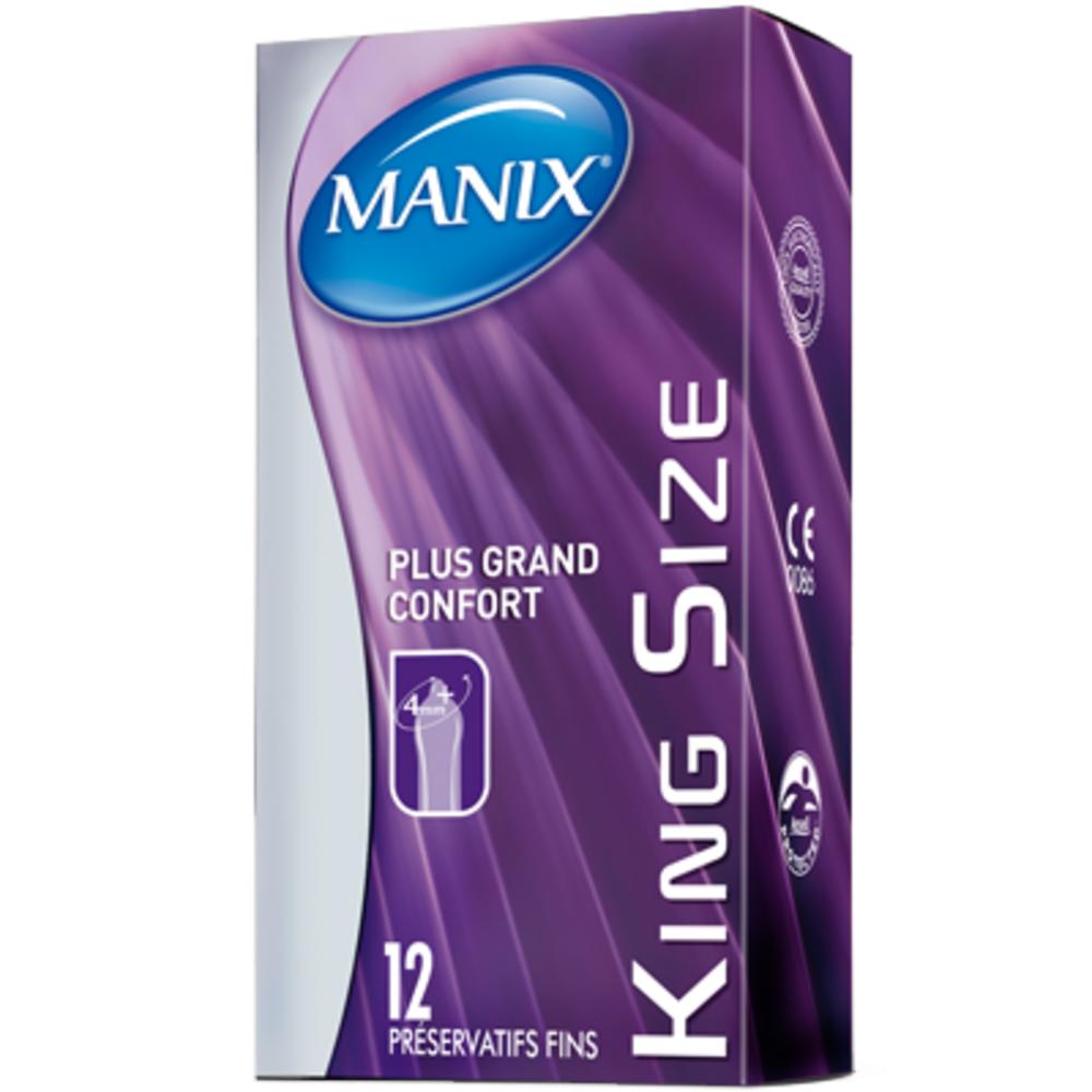 King Size 12 Préservatifs - 12.0 unites - Préservatifs - Manix Pour les anatomies généreuses-2251