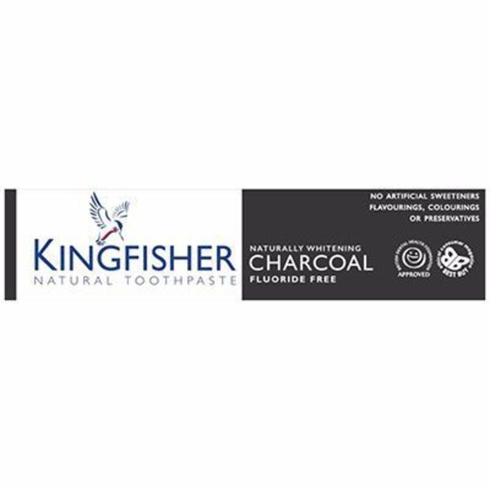 Kingfisher dentifrice naturel sans fluor charbon menthe 100ml - kingfisher -215174