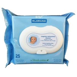 Klorane bébé lingettes visage et mains x25 - klorane -144992