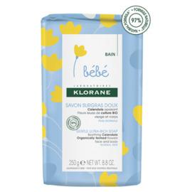 Klorane bebe savon surgras doux 250g - klorane -222561