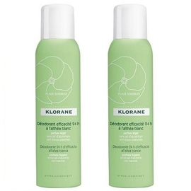 Klorane déodorant efficacité 24h à l'althéa blanc spray lot de 2 x 125ml - divers - klorane -128002