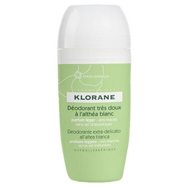 Klorane déodorant très doux à l'althéa blanc roll-on 40ml - divers - klorane -127997