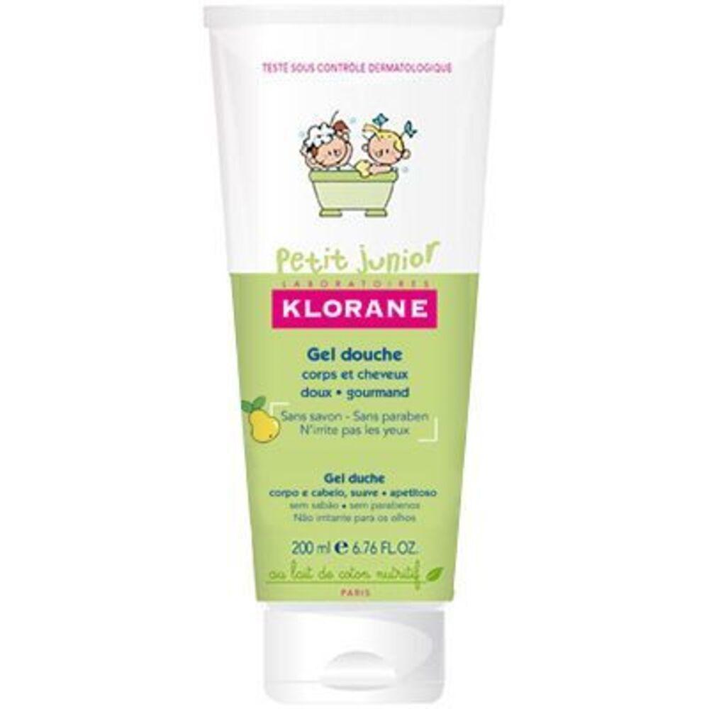 Klorane petit junior gel douche cheveux poire 200ml Klorane-221651
