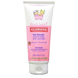 Klorane petit junior gel douche framboise - 200ml - 200.0 ml - klorane -145117