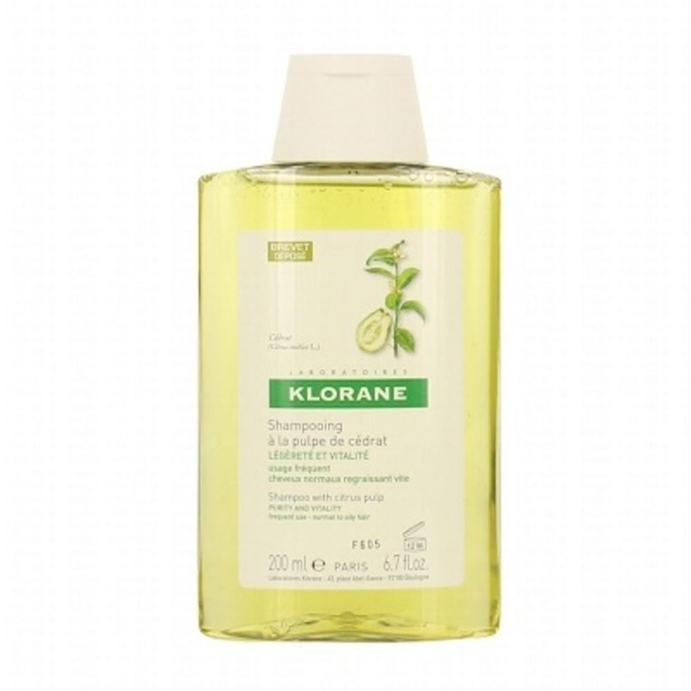 Klorane shampooing à la pulpe de cédrat 200ml - 200.0 ml - divers - klorane -81923