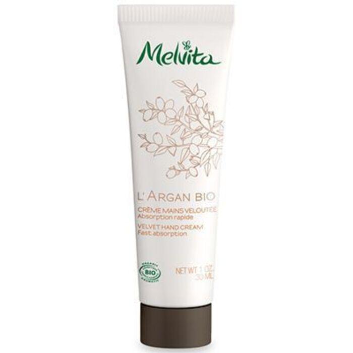 L'argan bio crème mains veloutée 30ml Melvita-213404